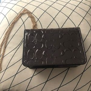 Coach Bags - COACH Signature Patent Leather Bowery Crossbody